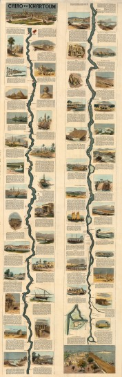 Nile River from Cairo to Khartoum: Showing the route from Cairo followed by the expedition led by Gen. Wolseley to relieve Gen Gordon at Khartoum.