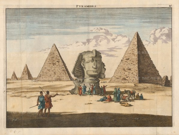 Sphynx and Pyramids of Khufu, Kharfre, Menkuare and one of the pyramids of the Queens.