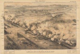 "Graphic Magazine: Tel El Kebir. 1882. An original antique lithograph. 20"" x 13"". [EGYp1137]"