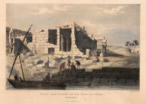 Luxor (Thebes): Southwest ruins on the Nile.