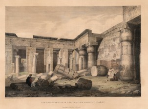 Medinet Abou (Habu): Mortuary temple of Usimare Ramesses III. Interior of the ruins.