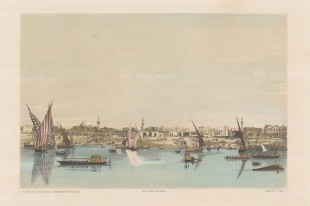 "Hay: Boulak. 1840. An original colour antique lithograph. 14"" x 9"". [EGYp494]"