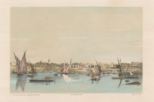 Boulak: View of the port from the River Nile.