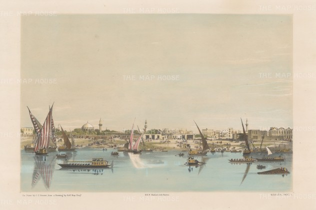 View of the port from the River Nile.