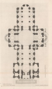 SOLD. St. Paul's Cathedral. Ground plan of the principal foundation.