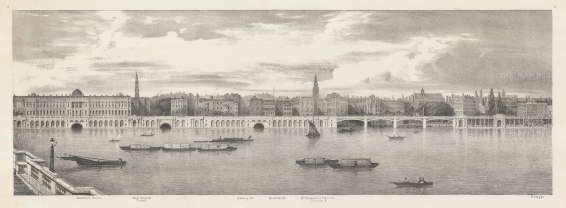St Clements: Thames View from Somerset House to Temple.