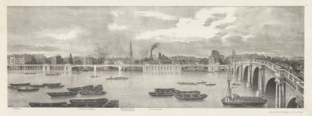 Blackfriars: Thames view from Temple Gardens to Blackfriars Bridge