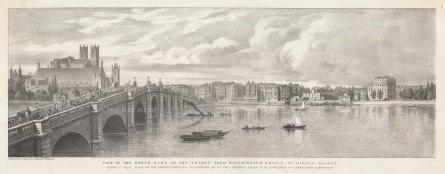 Westminster: Thames view from Westminster Bridge towards London Bridge.