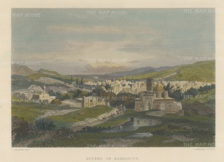 Damascus, Syria: View of the city and river.