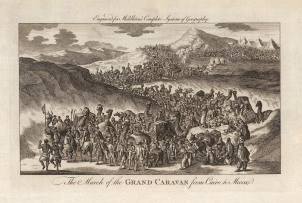 """Middleton, 'The March of the Grand Caravan from Cairo to Mecca', c.1780. An original black and white copper-engraving. 9"""" x 13"""". £POA."""