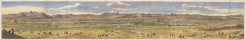 Isfahan, Iran. Panorama prior to the city being sacked by the Ghili Pashtun army in 1722.