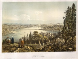 Bird's Eye view from the Eyub cemetary: Looking towards the Golden Horn (Halic).