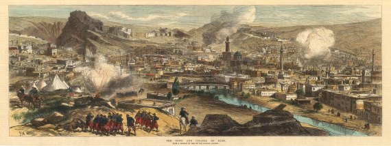 The Illustrated London New: Kars. 1880. A hand-coloured original antique wood-engraving. [TKYp1270]