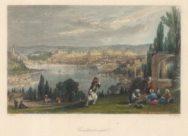 Allom Istanbul. 1838. A hand-coloured original antique steel-engraving. 5 x 3 inches. [TKYp1302]