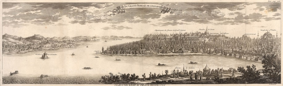 Constantinople: Panorama from Galata to Scutari and Constantinople. Issued in the year the Treaty of Pruth ended the Russo-Turkish war; Le Blond was later appointed as chief architect of the city of St Petersburg.