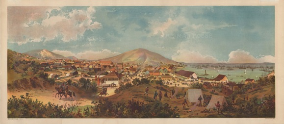 RARE: San Francisco as it was in 1849: View from Montgomery Street to Telegraph Hill. After the painting by George Burgess.