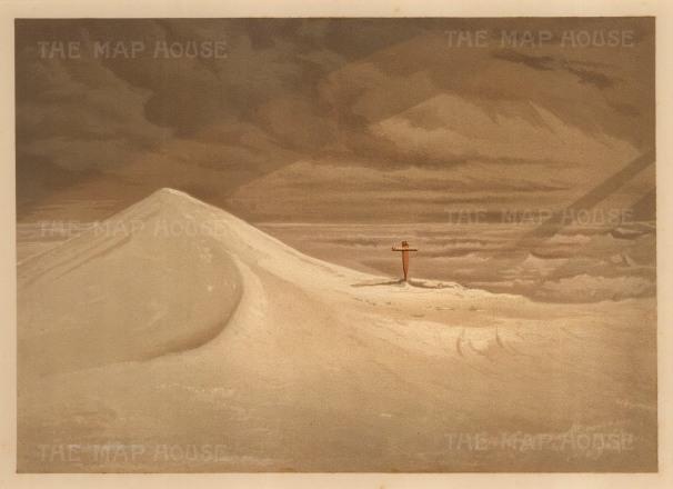 Moss: HMS Alert, Arctic c.1880. An original antique chromo-lithograph. 12 x 9 inches. [ARTp457]