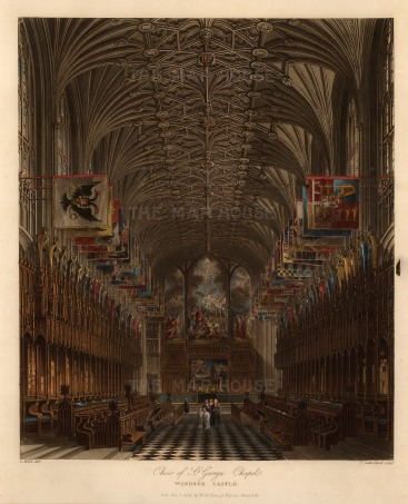 "Pyne, 'Windsor Castle', 1818. An original colour aquatint. 8"" x 10"". £POA."