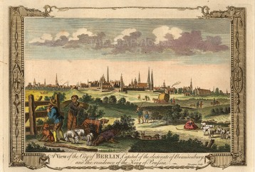 "Miller: Berlin. c1780. A hand coloured original antique copper engraving. 12"" x 8"". [GERp1192]"