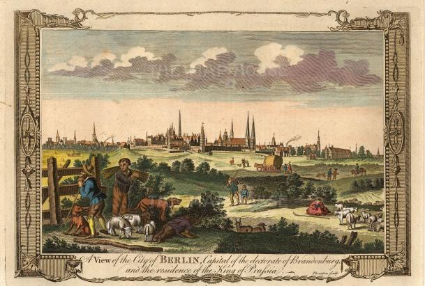 "Miller: Berlin. c1780. A hand coloured original antique copper engraving. 12"" x 8"". [GERp1192]"