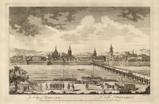 "Sayer: Dresden. 1774. An original antique copper engraving. 18"" x 12"". [GERp1247]"