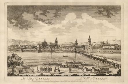 Sayer: Dresden. 1774. An original antique copper engraving. 18 x 12 inches. [GERp1247]