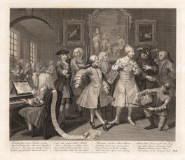 William Hogarth, Rake's Progress, 2 of 8, c.1800. An original black and white copper engraving. £POA.