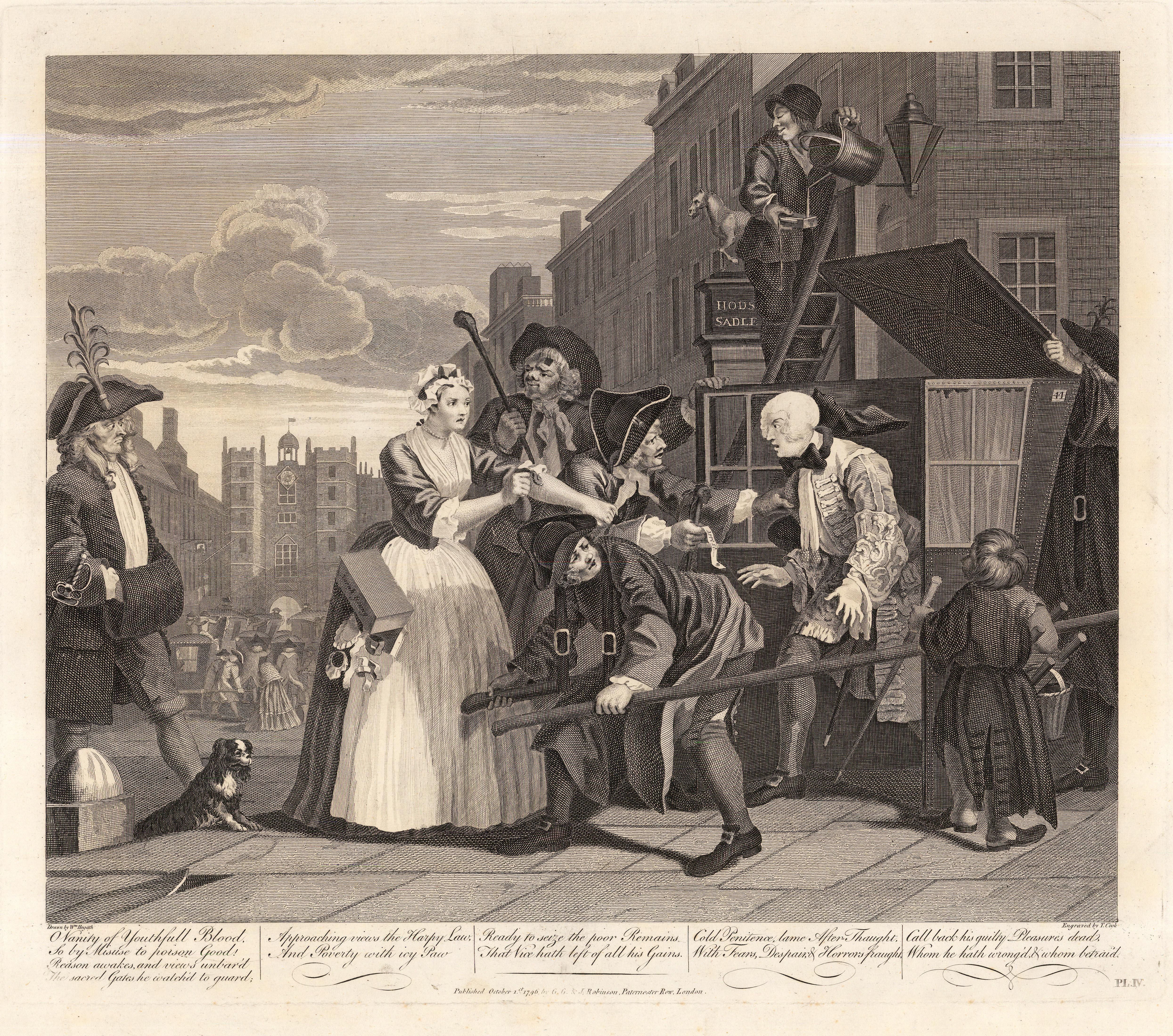 William Hogarth Rake S Progress 4 Of 8 C 1800 An