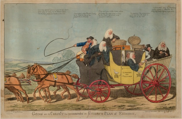 "S.W. Fores, 'Going a Circuit', 1803. An original colour etching. 10"" x 16"". £POA."