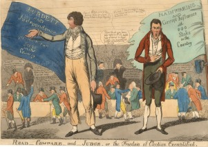 In 1802 Sir Francis Burdett was returned as MP Middlesex, in 1804 declared void in favour of George Mainwaring and then amended in 1805 by which time Burdett had decided to leave politics.