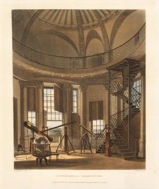 "Ackermann, 'Astronomical Observatory', Oxford. 1814. An original hand-coloured aquatint. 10"" x 12"". £POA."