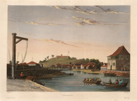 "Himely: Singapore, 1835. A hand-coloured original lithograph. 10"" x 14"". SOLD"