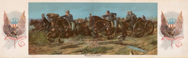 Herrick: Artillery. 1898. An original antique chromo-lithograph. 16 x 11 inches. [USAp4379]