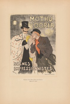 Mothu et Doria: Advertisement for the two singers by Théophile-Alexandre Steinlen, an artist of the Montmartre circle.