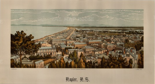Napier: Edward Wakefield's New Zealand Land Company established numerous settlements that became principal towns.