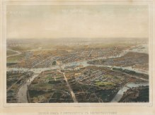 "Charleman: St. Petersburg. c1840. An original colour antique lithograph. 24"" x 17 "". [RUSp572]"