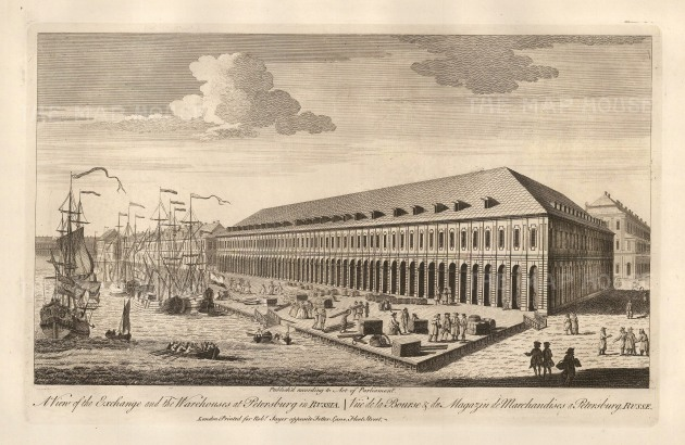 "Sayer: St. Petersburg. 1774. An original antique copper engraving. 12"" x 18"". [RUSp669]"