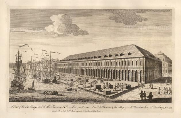 "Sayer: St. Petersburg. 1774. An original antique copper engraving. 18"" x 12"". [RUSp669]"