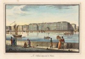 "Alexandriev: Winter Palace, St Petersburg. 1828. A hand coloured original antique lithograph. 16"" x 12"". [RUSp745]"