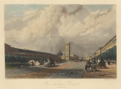 "Vickers: Nevsky Prospect, St Petersburg. c1840. A hand coloured original antique steel engraving. 6"" x 5"". [RUSp770]"
