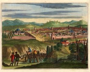 Ogilby: Cusco, Peru. 1671. A hand-coloured original antique copper-engraving. [SAMp1387] SOLD
