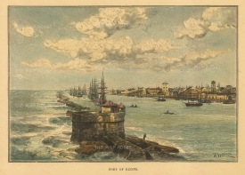 "Reclus: Recife. 1894. A hand coloured original antique wood engraving. 7"" x 5"". [SAMp1456]"