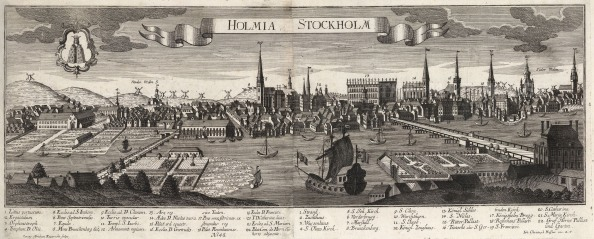 Panorama of the city in the same year the Treaty of Stockholm ended the Great Northern War.