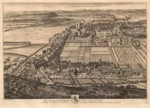 """Kip: Nottingham. 1719. An original antique copper engraving. 20"""" x 14"""" [ENGp2]"""