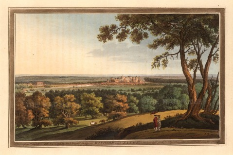 "Boydell: Windsor and Eaton. 1793. An original colour antique aquatint. 9"" x 13""[ENGp88]"