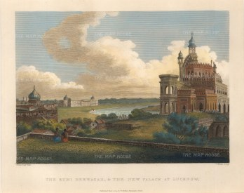 Lucknow. The Rumi Dermazah and the New Palace at Lucknow.