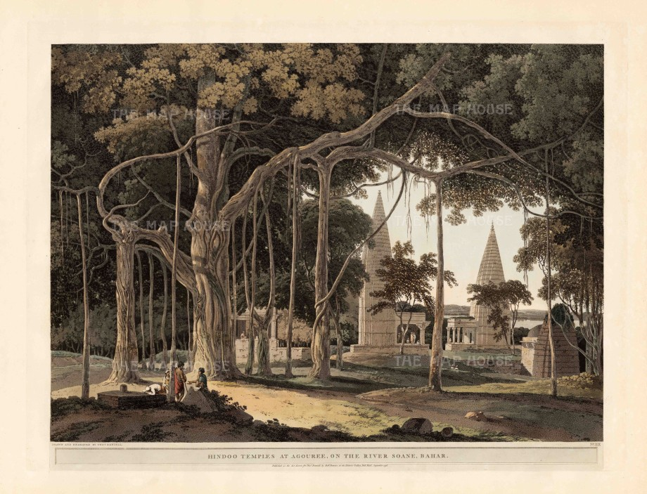 Daniell: Mirzapur district, Utar Pradesh. 1796. An original antique aquatint. 26 x 20 inches. [INDp1315]
