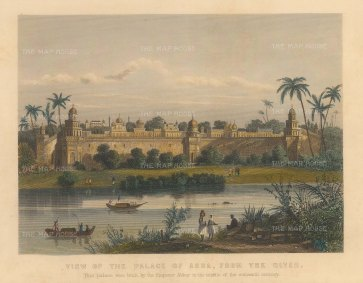 Allom: Agra. Circa 1840. A hand-coloured original antique steel-engraving. 8 x 6 inches. [INDp1397]