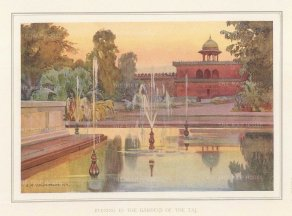 Agra: Evening in the gardens. ‎Villiers-Stuart resided in India and was a Fellow of the Royal Horticultural Society and the Institute of Landscape Architects