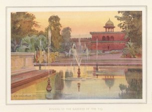 Agra: Evening in the gardens. Villiers-Stuart resided in India and was a Fellow of the Royal Horticultural Society and the Institute of Landscape Architects